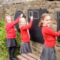 Square Chalkboard,playground Chalkboard,Outdoor Mark making,outstanding mark making activities,activity Chalkboard,outdoor art equipment,outdoor sensory toys and mirrors,sensory garden furniture